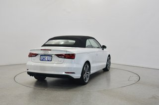 2017 Audi A3 8V MY18 S tronic White 7 Speed Sports Automatic Dual Clutch Cabriolet.