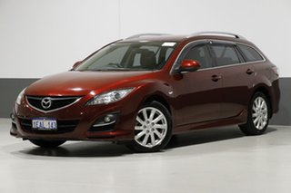 2012 Mazda 6 GH MY11 Touring Burgundy 5 Speed Auto Activematic Wagon.