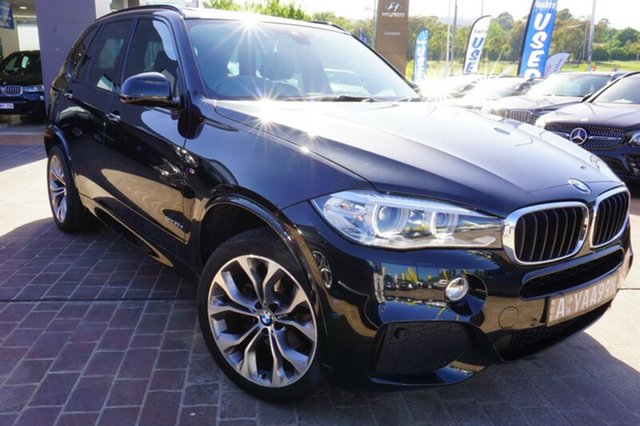 Used BMW X5 F15 xDrive30d, 2014 BMW X5 F15 xDrive30d Black 8 Speed Sports Automatic Wagon