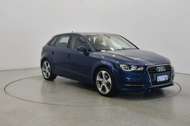 Used Audi A3 8P MY13 Attraction Sportback S tronic, 2013 Audi A3 8P MY13 Attraction Sportback S tronic Blue 7 Speed Sports Automatic Dual Clutch