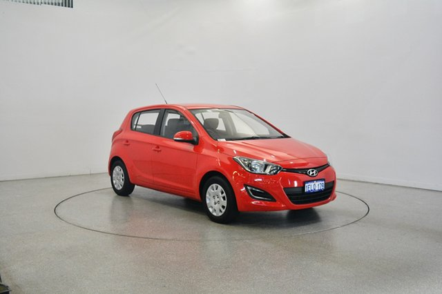 Used Hyundai i20 PB MY14 Active, 2014 Hyundai i20 PB MY14 Active Electric Red 4 Speed Automatic Hatchback