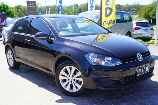 Used Volkswagen Golf VII MY14 90TSI DSG, 2013 Volkswagen Golf VII MY14 90TSI DSG Black 7 Speed Sports Automatic Dual Clutch Hatchback