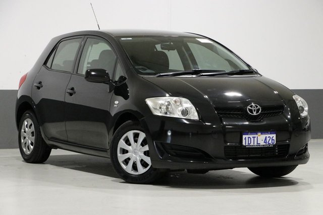 Used Toyota Corolla ZRE152R Ascent, 2009 Toyota Corolla ZRE152R Ascent Black 6 Speed Manual Hatchback