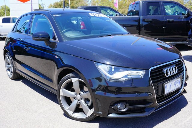 Used Audi A1 8X MY14 Sport Sportback S tronic, 2014 Audi A1 8X MY14 Sport Sportback S tronic Black 7 Speed Sports Automatic Dual Clutch Hatchback