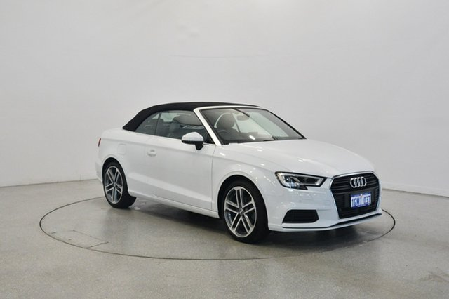 Used Audi A3 8V MY18 S Tronic, 2017 Audi A3 8V MY18 S tronic White 7 Speed Sports Automatic Dual Clutch Cabriolet