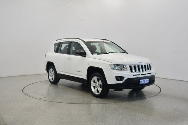 Used Jeep Compass MK MY13 Sport CVT Auto Stick, 2013 Jeep Compass MK MY13 Sport CVT Auto Stick Bright White 6 Speed Constant Variable Wagon