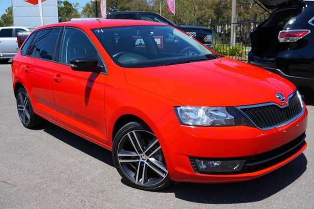 Used Skoda Rapid NH MY17 Spaceback DSG, 2017 Skoda Rapid NH MY17 Spaceback DSG Red 7 Speed Sports Automatic Dual Clutch Hatchback
