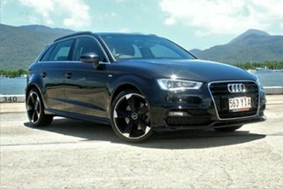2014 Audi A3 8V MY14 Ambition S tronic Black 7 Speed Sports Automatic Dual Clutch Sedan.