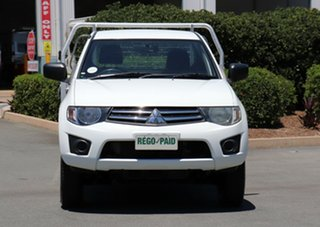 2013 Mitsubishi Triton MN MY13 GLX 4x2 White 4 Speed Sports Automatic Cab Chassis