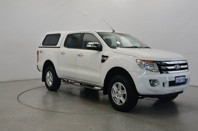 Used Ford Ranger PX XLT Double Cab, 2013 Ford Ranger PX XLT Double Cab Cool White 6 Speed Sports Automatic Utility