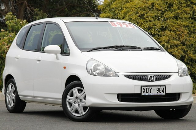 Used Honda Jazz GD GLi, 2007 Honda Jazz GD GLi Taffeta White 1 Speed Constant Variable Hatchback