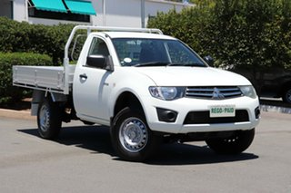 2013 Mitsubishi Triton MN MY13 GLX 4x2 White 4 Speed Sports Automatic Cab Chassis.
