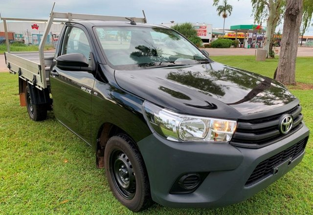 Used Toyota Hilux GUN122R Workmate 4x2, 2017 Toyota Hilux GUN122R Workmate 4x2 Black 5 Speed Manual Cab Chassis