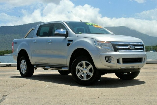 Used Ford Ranger PX XLT Double Cab, 2012 Ford Ranger PX XLT Double Cab Silver 6 Speed Manual Utility