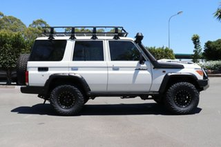 2018 Toyota Landcruiser VDJ76R Workmate White 5 Speed Manual Wagon