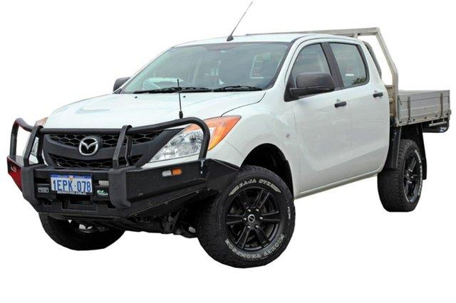 Used Mazda BT-50 UP0YF1 XT, 2014 Mazda BT-50 UP0YF1 XT White 6 Speed Manual Cab Chassis