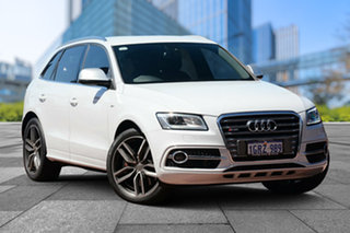 2014 Audi SQ5 8R MY14 TDI Tiptronic Quattro White 8 Speed Sports Automatic Wagon.