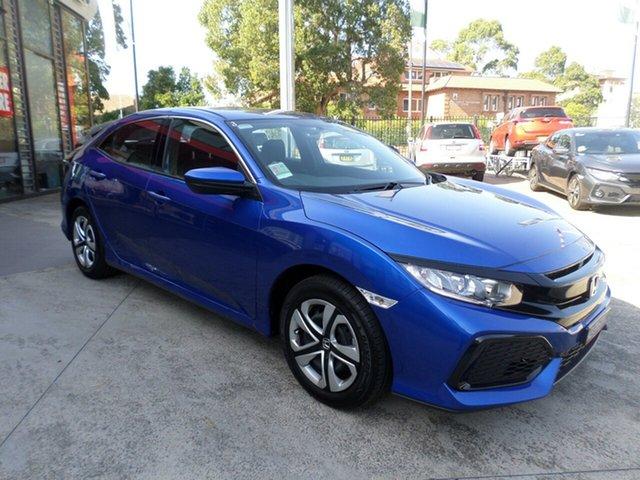 Demo Honda Civic 10th Gen MY18 VTi, 2018 Honda Civic 10th Gen MY18 VTi Brilliant Sporty Blue 1 Speed Constant Variable Hatchback
