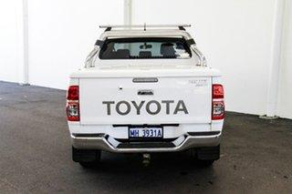 2014 Toyota Hilux KUN26R MY14 SR5 Double Cab Glacier White 5 Speed Automatic Utility