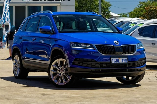 Used Skoda Karoq NU MY18 110TSI DSG FWD, 2018 Skoda Karoq NU MY18 110TSI DSG FWD Blue 7 Speed Sports Automatic Dual Clutch Wagon