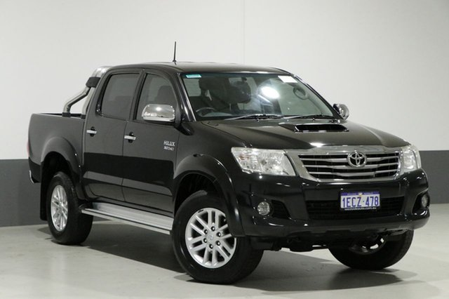Used Toyota Hilux KUN26R MY12 SR5 (4x4), 2013 Toyota Hilux KUN26R MY12 SR5 (4x4) Black 4 Speed Automatic Dual Cab Pick-up