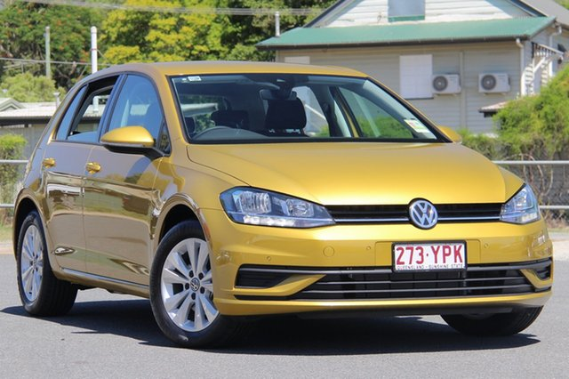 Demo Volkswagen Golf 7.5 MY19 110TSI DSG Trendline, 2018 Volkswagen Golf 7.5 MY19 110TSI DSG Trendline Tumeric Yellow 7 Speed
