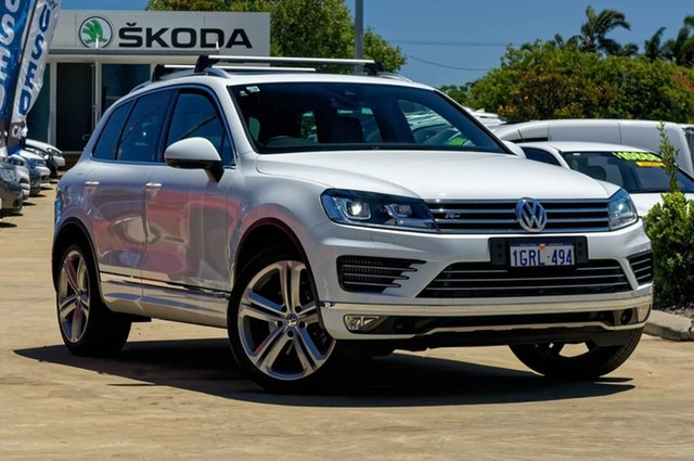 Used Volkswagen Touareg 7P MY17 V8 TDI Tiptronic 4MOTION R-Line, 2017 Volkswagen Touareg 7P MY17 V8 TDI Tiptronic 4MOTION R-Line White 8 Speed Sports Automatic Wagon