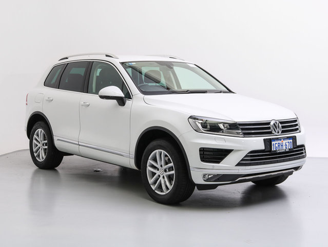 Used Volkswagen Touareg 7P MY17 150 TDI Element, 2017 Volkswagen Touareg 7P MY17 150 TDI Element White 8 Speed Automatic Wagon