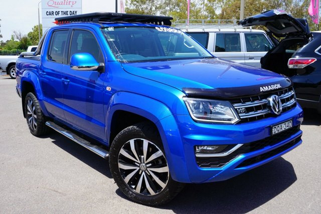 Used Volkswagen Amarok 2H MY18 TDI550 4MOTION Perm Ultimate, 2017 Volkswagen Amarok 2H MY18 TDI550 4MOTION Perm Ultimate Blue 8 Speed Automatic Utility