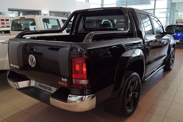 New Volkswagen Amarok 2H MY19 , 2018 Volkswagen Amarok 2H MY19 TDI580 4MOTION PERM HIGHLINE EDITION Deep Black Pearl Effect 8 Speed
