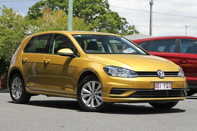 Demo Volkswagen Golf 7.5 MY18 110TSI DSG Trendline, 2018 Volkswagen Golf 7.5 MY18 110TSI DSG Trendline Turmeric Yellow 7 Speed