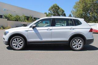 2018 Volkswagen Tiguan 5N MY18 110TDI Comfortline DSG 4MOTION Allspace White Silver 7 Speed.