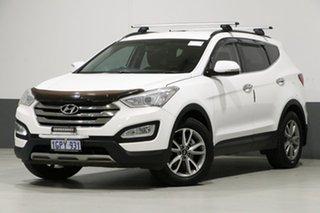 2014 Hyundai Santa Fe DM Elite CRDi (4x4) White 6 Speed Automatic Wagon.
