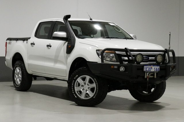 Used Ford Ranger PX XLS 3.2 (4x4), 2015 Ford Ranger PX XLS 3.2 (4x4) White 6 Speed Manual Dual Cab Utility