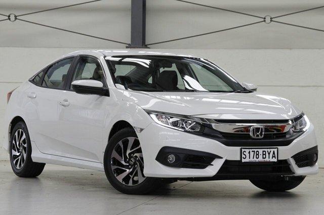 Demo Honda Civic 10th Gen MY18 VTi-S, 2018 Honda Civic 10th Gen MY18 VTi-S White Orchid 1 Speed Constant Variable Sedan