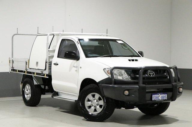 Used Toyota Hilux KUN26R 09 Upgrade SR (4x4), 2009 Toyota Hilux KUN26R 09 Upgrade SR (4x4) White 5 Speed Manual Cab Chassis
