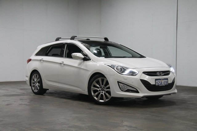 Used Hyundai i40 VF Premium Tourer, 2012 Hyundai i40 VF Premium Tourer White 6 Speed Sports Automatic Wagon