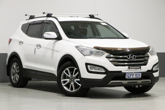 Used Hyundai Santa Fe DM Elite CRDi (4x4), 2014 Hyundai Santa Fe DM Elite CRDi (4x4) White 6 Speed Automatic Wagon