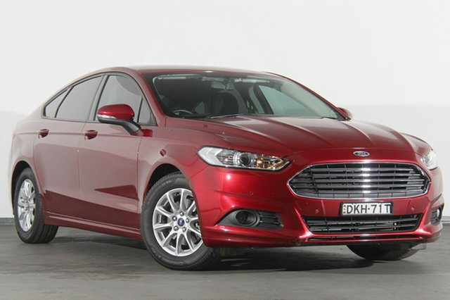 Used Ford Mondeo MD Ambiente PwrShift, 2015 Ford Mondeo MD Ambiente PwrShift Burgundy 6 Speed Sports Automatic Dual Clutch Hatchback
