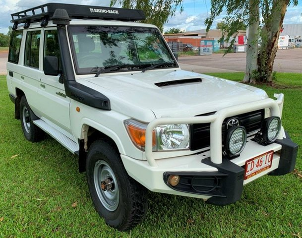 Used Toyota Landcruiser VDJ76R MY10 Workmate, 2011 Toyota Landcruiser VDJ76R MY10 Workmate White 5 Speed Manual Wagon