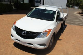 2014 Mazda BT-50 UP0YD1 XT 4x2 White 6 Speed Manual Cab Chassis