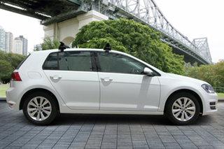2013 Volkswagen Golf VII 90TSI DSG Comfortline White 7 Speed Sports Automatic Dual Clutch Hatchback.