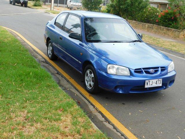 Used Hyundai Accent LC GL Morphett Vale, 2002 Hyundai Accent LC GL Blue 5 Speed Manual Hatchback
