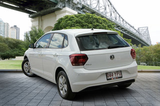 2018 Volkswagen Polo AW MY18 85TSI Comfortline White 6 Speed Manual Hatchback.