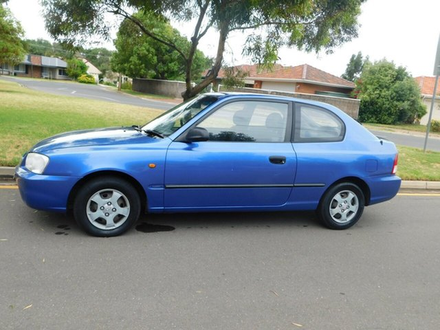 Used Hyundai Accent LC GL, 2002 Hyundai Accent LC GL Blue 5 Speed Manual Hatchback