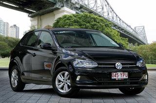 2018 Volkswagen Polo AW MY18 85TSI Comfortline Black 6 Speed Manual Hatchback.