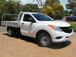 2014 Mazda BT-50 UP0YD1 XT 4x2 White 6 Speed Manual Cab Chassis.