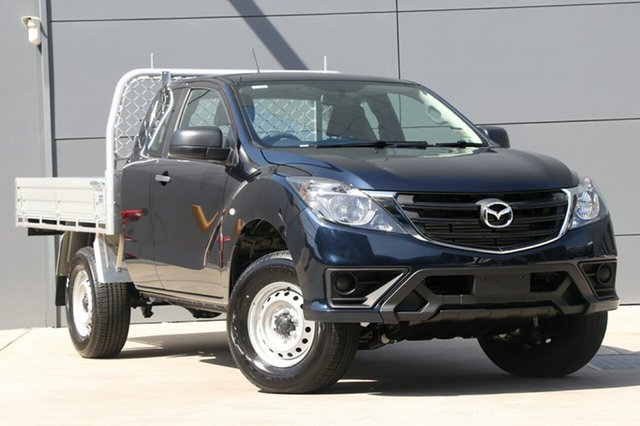 New Mazda BT-50 UR0YG1 XT Freestyle 4x2 Hi-Rider, 2018 Mazda BT-50 UR0YG1 XT Freestyle 4x2 Hi-Rider Deep Crystal Blue 6 Speed Manual Cab Chassis