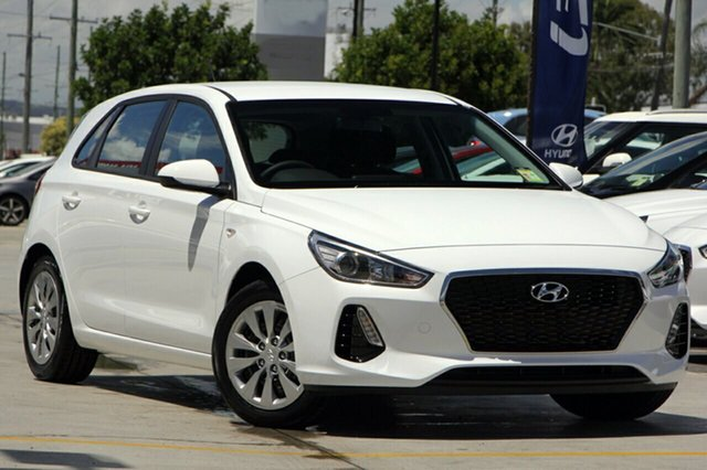 New Hyundai i30 PD MY19 Go, 2018 Hyundai i30 PD MY19 Go Polar White 6 Speed Sports Automatic Hatchback