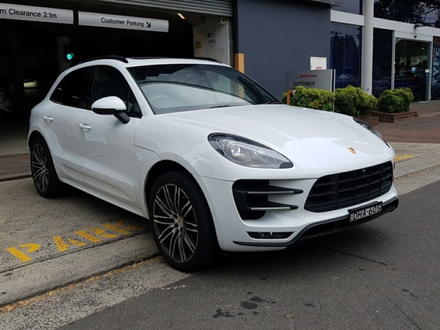 Used Porsche Macan 95B MY16 Turbo PDK AWD, 2015 Porsche Macan 95B MY16 Turbo PDK AWD White 7 Speed Sports Automatic Dual Clutch Wagon